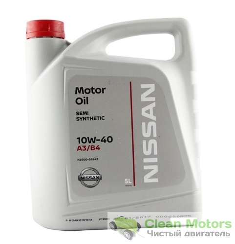 Моторное масло Nissan 10W-40 SS A3/B4 5 л